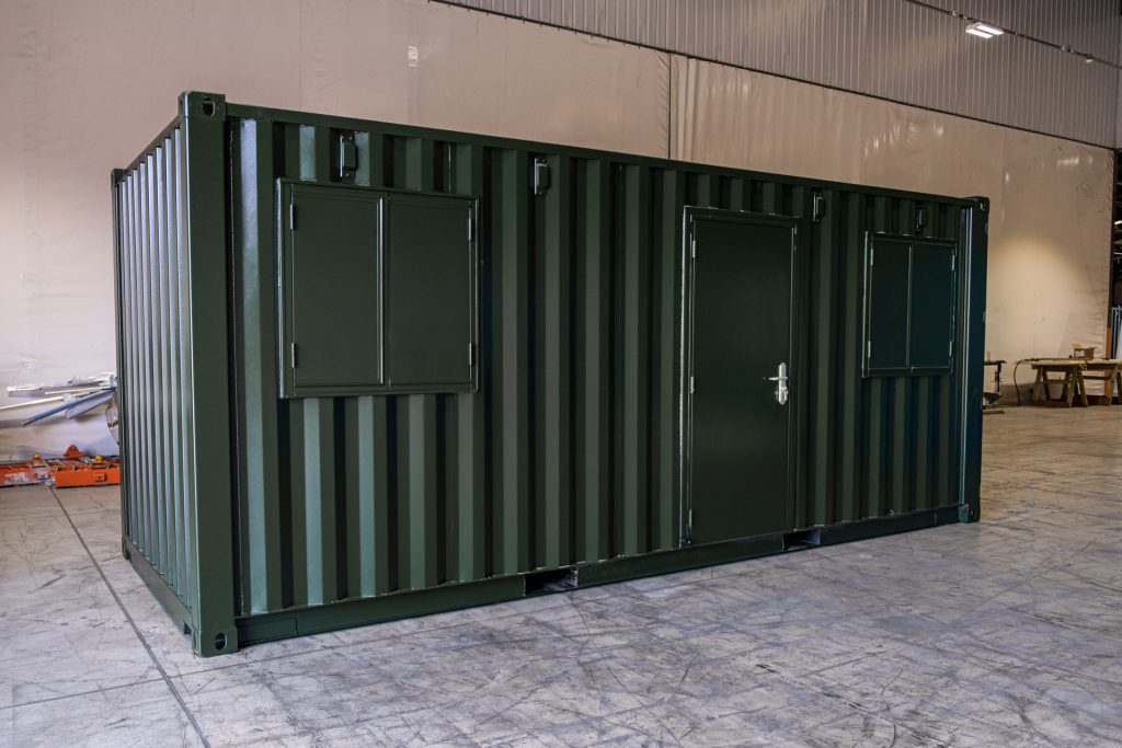 20ft Green Standard Container Office