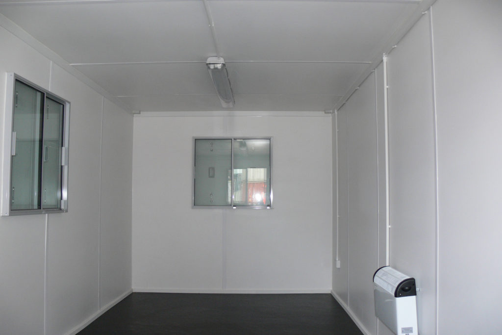 20ft Office inside view