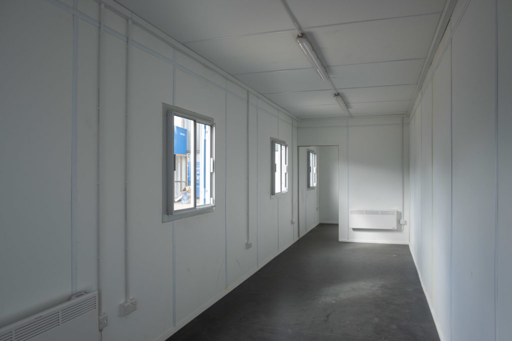 40ft office inside