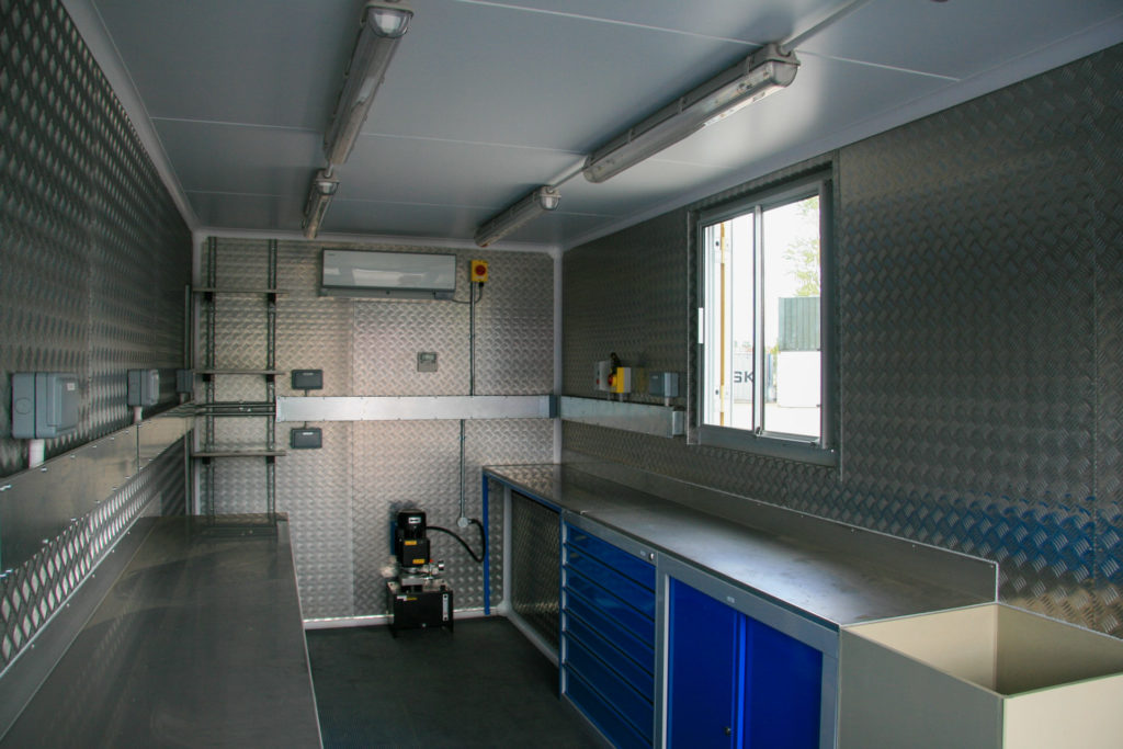 Inside 20ft science laboratory