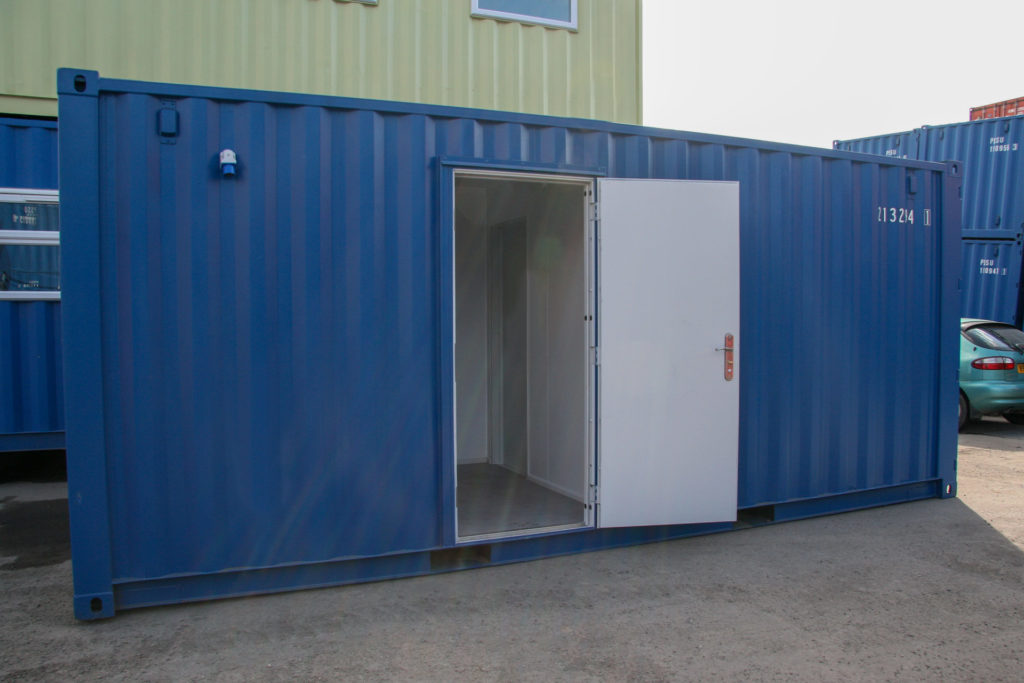 20ft Split Office in Blue