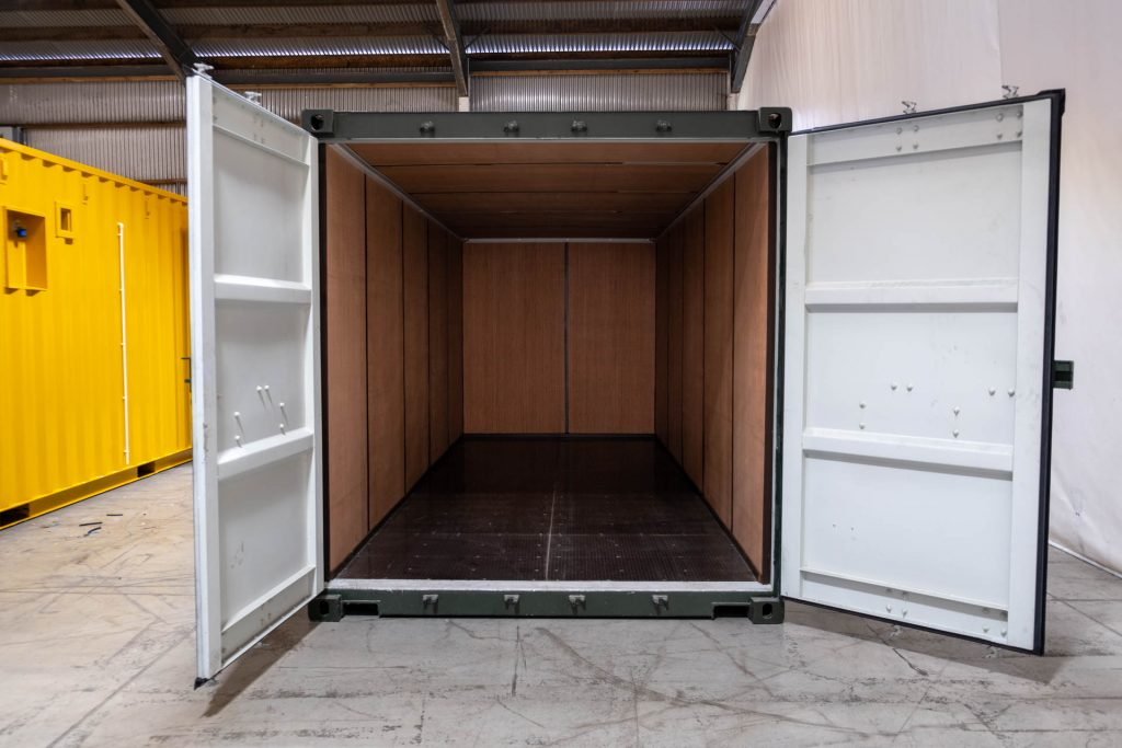 Green 20ft Ply Lined Container