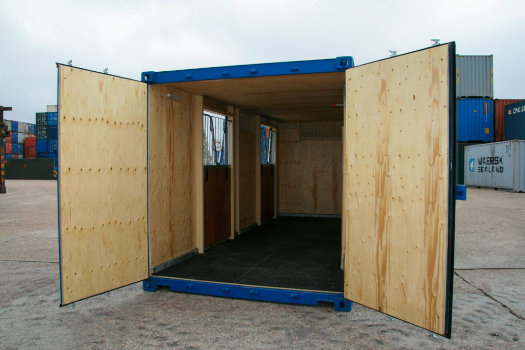 Inside 20ft stable conversion