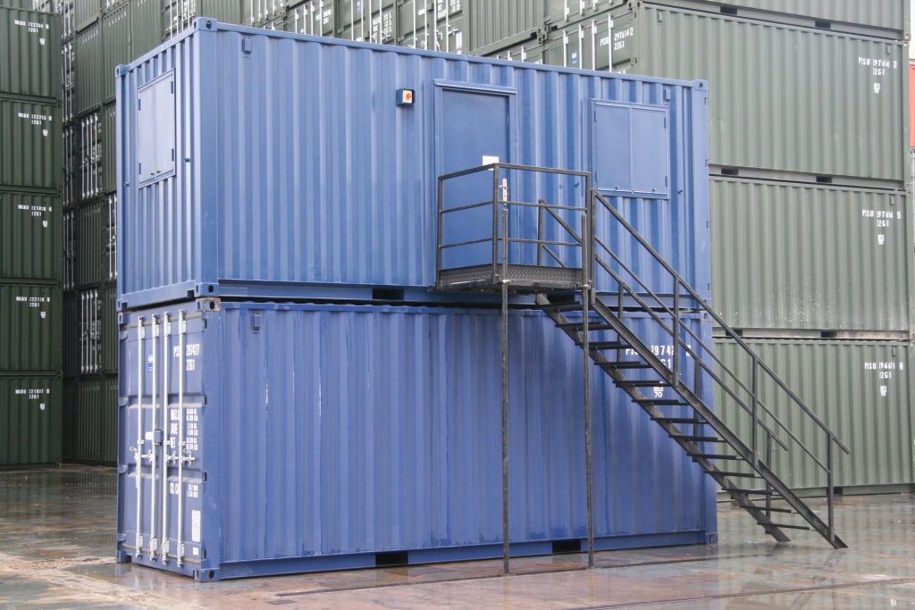 Shipping Container On-site Office conversions