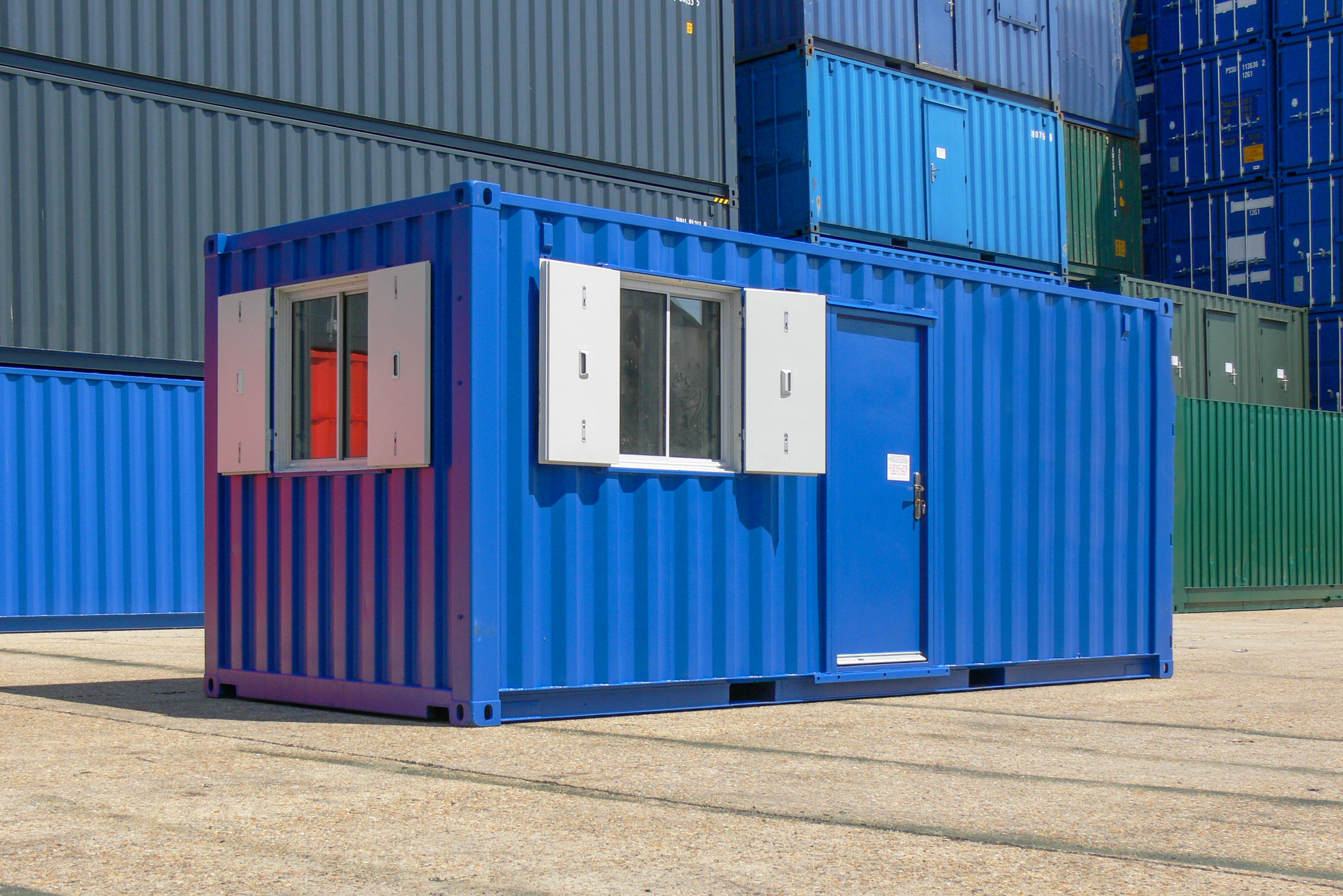 Converted Shipping Container Office