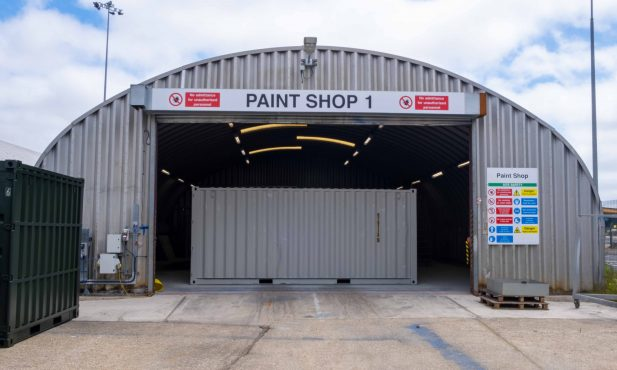 20ft Container in Paint Shop